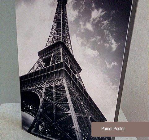 Montagem de Painéis Pôsteres com Fotografias Impressas