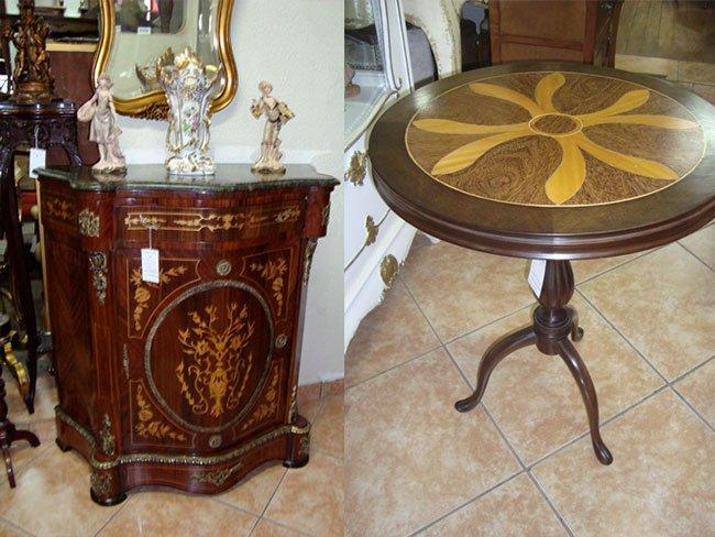 Antiquário com Mesas e Cômodas Antigas em Pinheiros SP