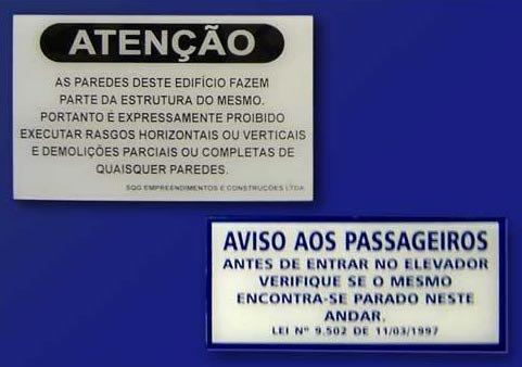 Placas em Acrílico em São Paulo