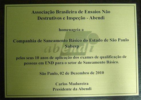 Placas de Homenagem em São Paulo