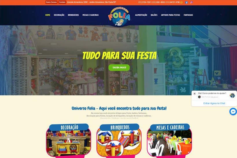 Criação de Site para Buffet Infantil