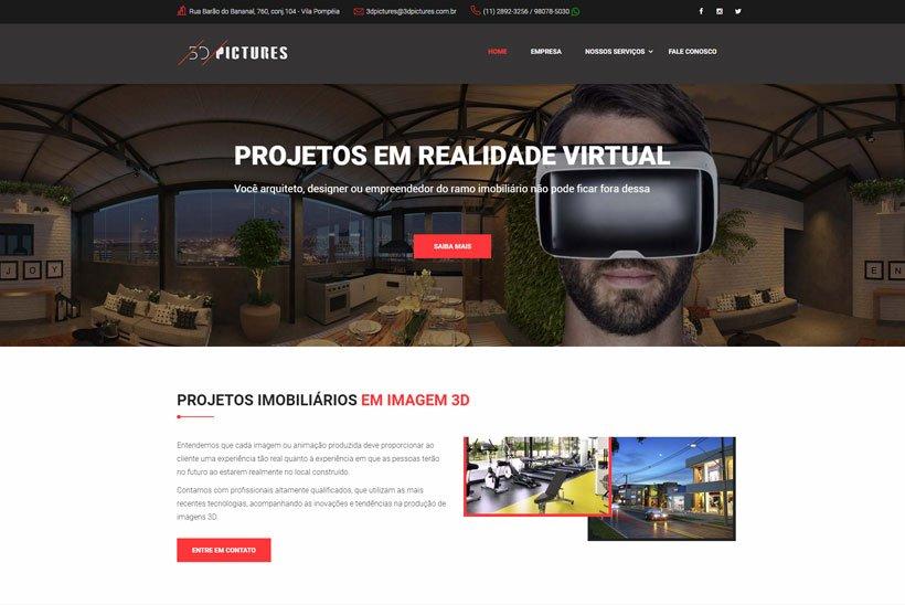 Criação de Site 3D Pictures