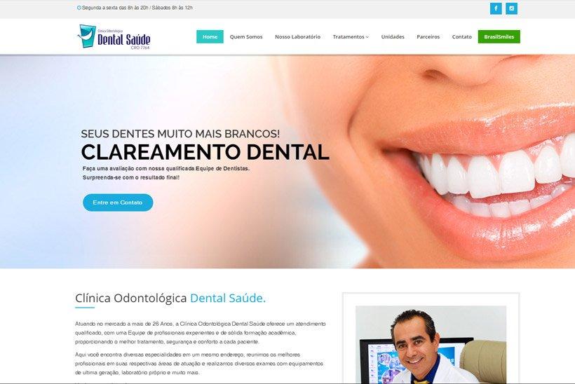 Criação de Site Dental Saúde