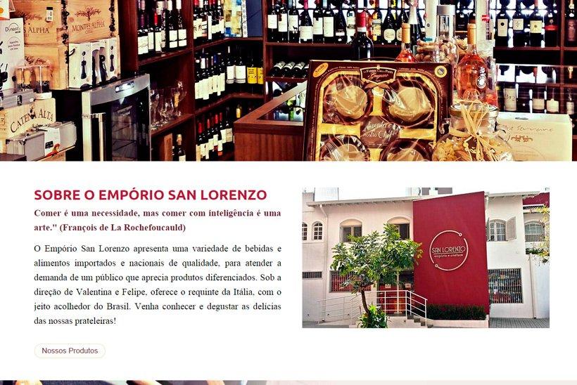 Criação de Site Empório San Lorenzo