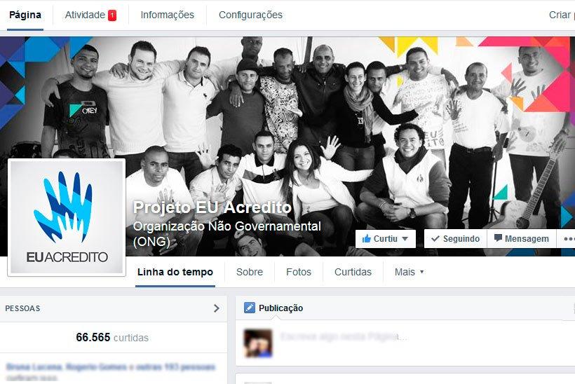 Campanha no Facebook Ads ONG Eu Acredito