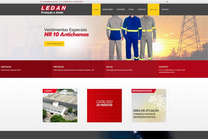 Criação de Site Ledan