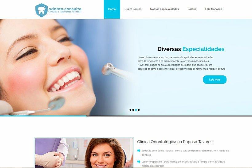 Criação de Site Odonto Consulta