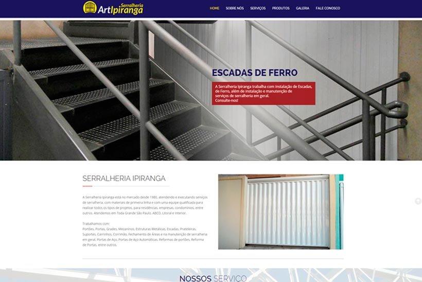 Criação de Site Serralheria Ipiranga