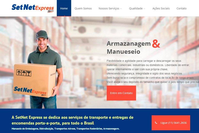 Site para empresa de Logística